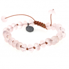 Rose Quartz Smooth Bracelet Image