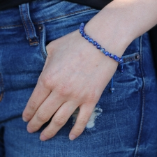 Lapis 6mm Faceted Bracelet Image