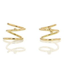 18k Gold Spiral Earrings Image