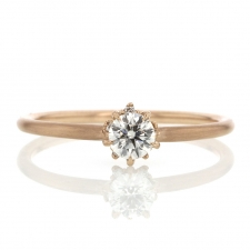 Diamond Solitaire 18k Rose Gold Ring Image