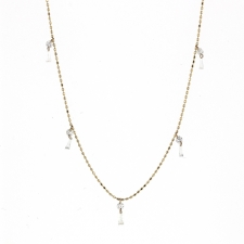 Brilliant Round Diamond Tassle Necklace Image