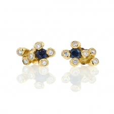 Blue Sapphire and Diamond Little Dipper Stud Earrings Image