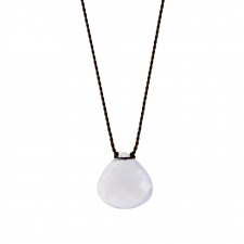 Faceted Natural Blue Chalcedony Zen Gems Necklace Image