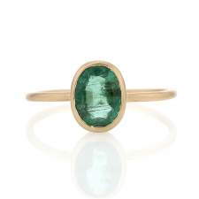 Emerald Oval 14k Gold Ring Image
