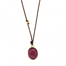 Small Ruby 18k Nylon Cord Necklace Image