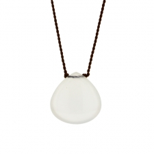 White Chalcedony Smooth Zen Gems Necklace Image