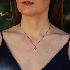 Sapphire 18k Gold Disc Necklace on Nylon Cord Image