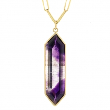 Super Seven Amethyst 18k Gold Pendant (Chain Sold Separately) Image