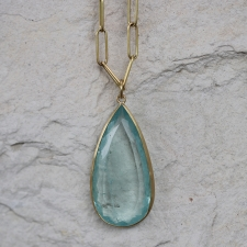 Teardrop 18k Gold Aquamarine Pendant (Chain Sold Separately) Image