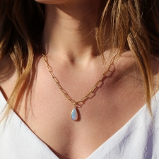 Australian Opal Teardrop Pendant (Chain Sold Separately) Image
