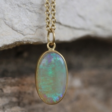 Australian Opal Oval Pendant (Chain Sold Separately) Image
