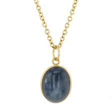 Blue Star Sapphire Cabachon (Chain Sold Separately) Image