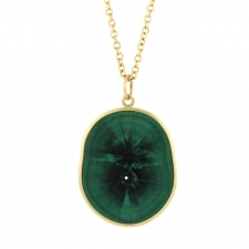 Malachite Slab Stalagmite Pendant (Chain Sold Separately) Image
