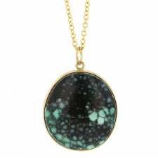 Variscite 18k Gold Pendant (Chain Sold Separately) Image