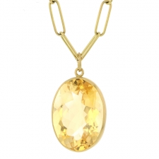 Citrine Faceted Pendant (Chain Sold Separately) Image
