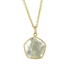 Evergreen Quartz 18k Gold Pendant  (Chain Sold Separately) Image