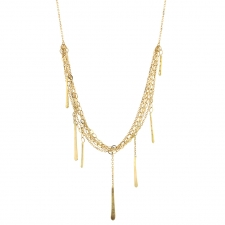 Short Sycamore Layered Gold Strand Necklace Image