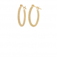 18k Gold Tying Rope Small Hoops Image