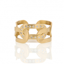 18k Joint Ring with Champagne Diamonds Image