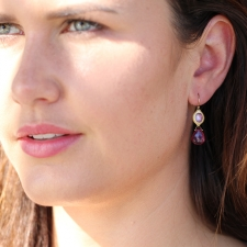 Rubelite and Sapphire Earrings Image