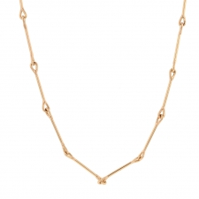 Needle Eye 18k Rose Gold Necklace Image