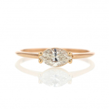 Marquis Diamond 18k Rose Gold Solitaire Ring Image