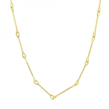 Needle Eye Gold Petite Link Necklace