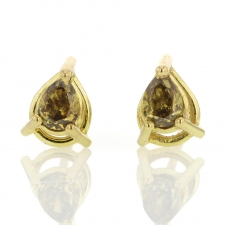 Pear Diamond Stud Earrings Image
