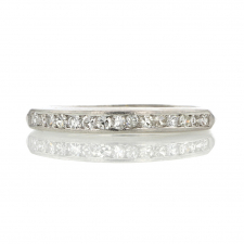 Vintage Platinum and Diamond Band Ring Image