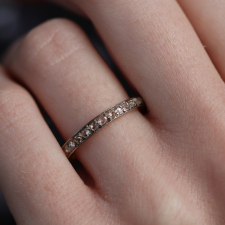 Vintage Rare Russian Rose Cut Diamond Eternity Band Image