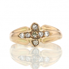 Vintage Diamond Cross Ring Image