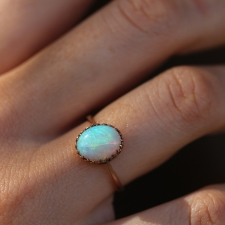 Vintage Opal Solitaire Ring Image
