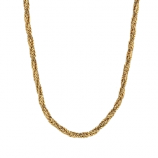 Vintage 14k Gold Italian Chain Necklace Image