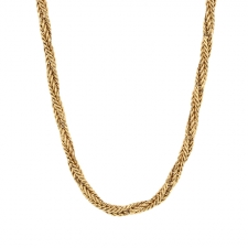 Vintage 14k Gold Rope Chain Necklace Image