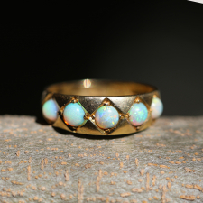 Victorian 18k Gold Opal Ring Image