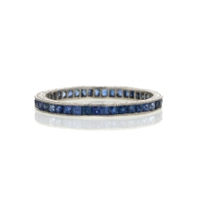 Vintage Platinum and Sapphire Ring Image
