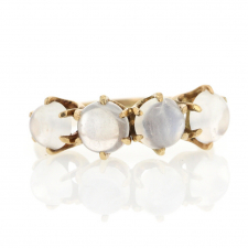 Vintage Four Round Moonstone Gold Ring Image
