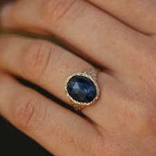 Kyanite Diamond Lace Gold Ring Image