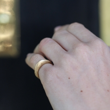 Smooth Round Gold Band Image