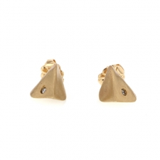 Pinched Gold Studs Image