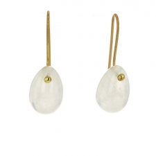 Rainbow Moonstone Egg Earrings Image