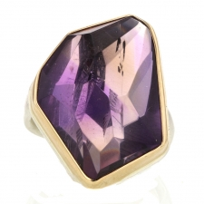 Vertical Faceted Ametrine Vertical Ring Image