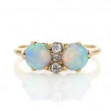 Antique Gold Opal and Diamond Ring Image