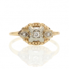 Yellow Gold Diamond Vintage Ring Image