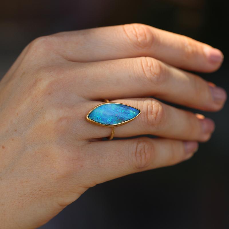Annette Ferdinandsen | Boulder Opal Marquis Ring at Voiage