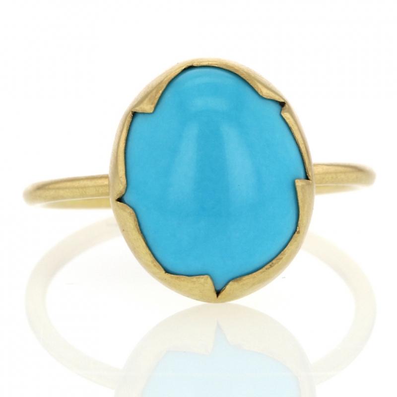 d7895ad3b Annette Ferdinandsen | Sleeping Beauty Turquoise 18k Gold Egg ...