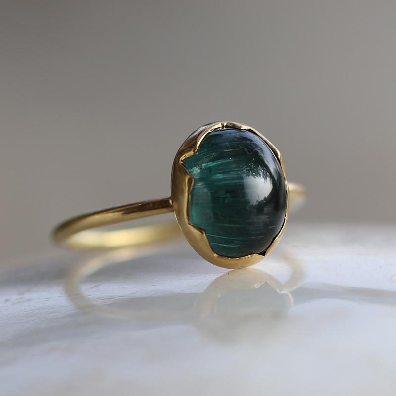 Vintage Tourmaline Cats Eye Ring