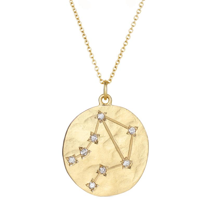gregson libra 14k gold constellation