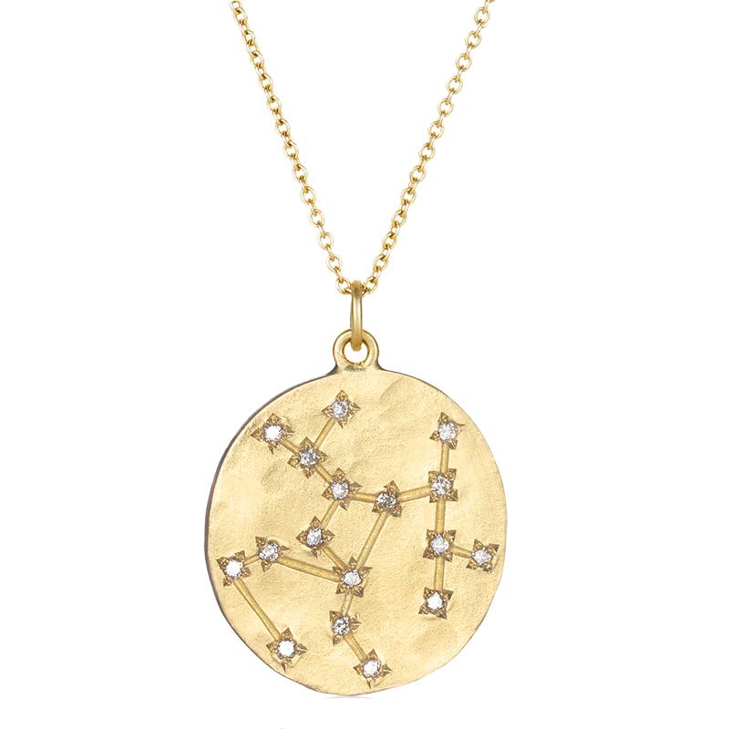 Brooke Gregson Sagittarius 14k Gold Diamond Constellation
