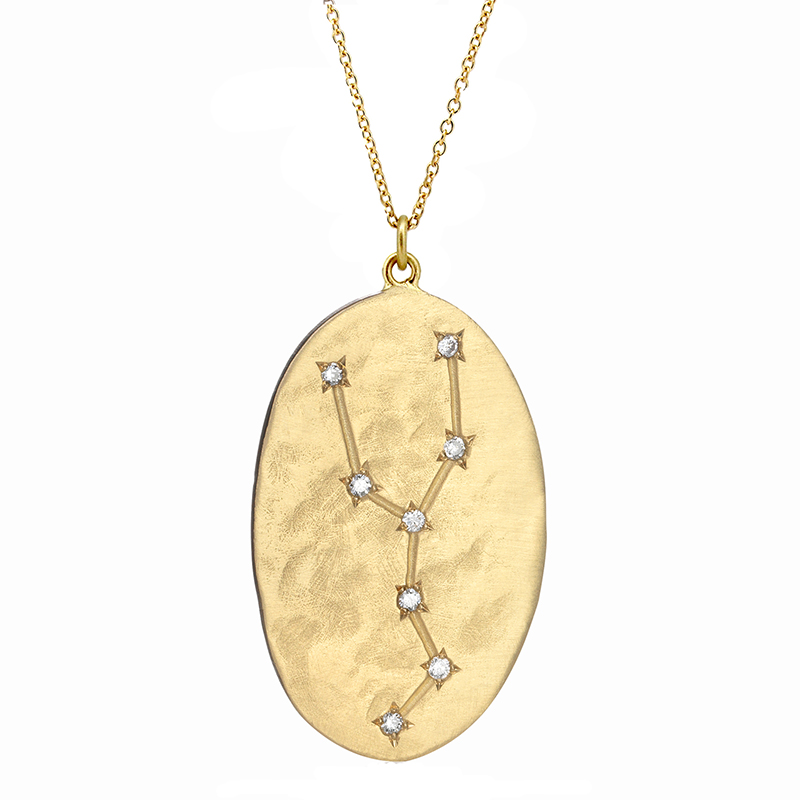 Taurus 14k Gold Diamond Constellation Necklace